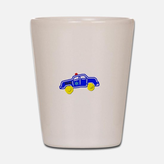 Police Car Shot Glass
