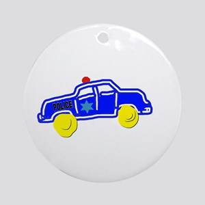 Police Car Round Ornament