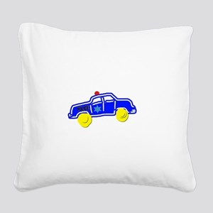 Police Car Square Canvas Pillow