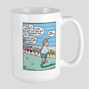 Impatiens Flower Watering Large Mug