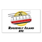 Roosevelt Island Tram Rectangle Sticker