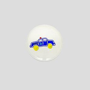 Police Car Mini Button