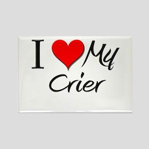 I Heart My Crier Rectangle Magnet