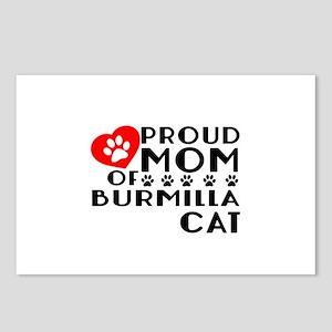 Proud Mom of Burmilla Cat Postcards (Package of 8)