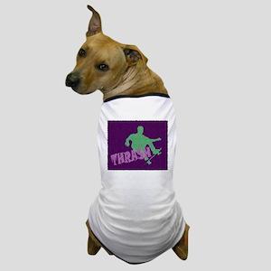 GREEN PURPLE THRASHER Dog T-Shirt