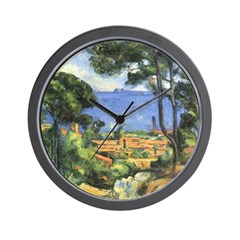 View From Chateau Wall Clock