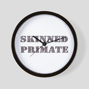 Skinned Primate Wall Clock
