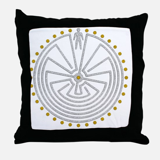 Funny The labyrinth Throw Pillow