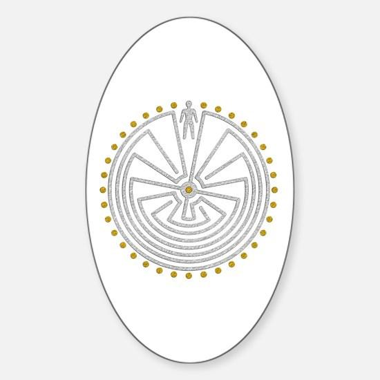Unique Maze Sticker (Oval)