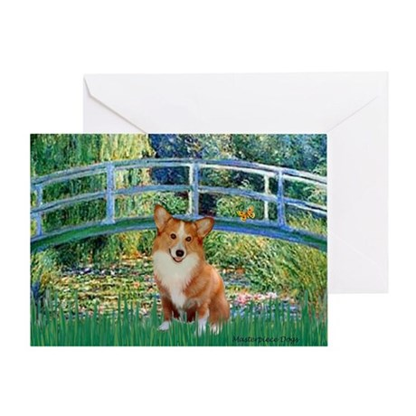 Bridge / Welsh Corgi (p) Greeting Card