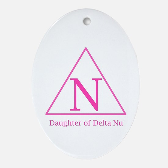Daughter of Delta Nu Oval Ornament