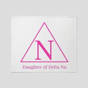 Daughter of Delta Nu Throw Blanket