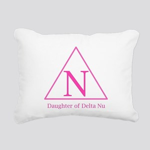 Daughter of Delta Nu Rectangular Canvas Pillow