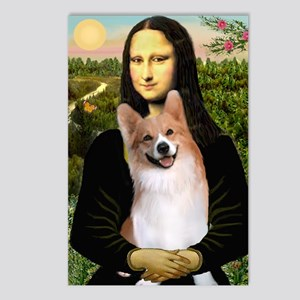 Mona Lisa / Welsh Corgi(p) Postcards (Package of 8