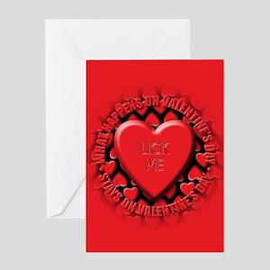lick me Greeting Card