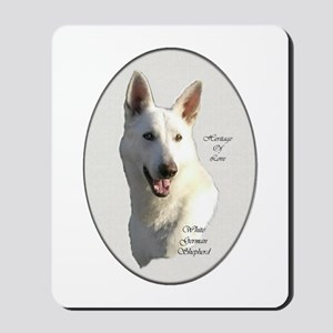 White German Shepherd Mousepad