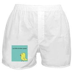 Let little birdies speak Boxer Shorts