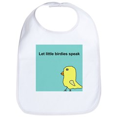 Let little birdies speak Bib
