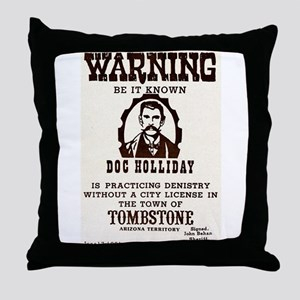 Doc Holliday Throw Pillow