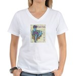 CanCan in Your Mind Women's V-Neck T-Shirt