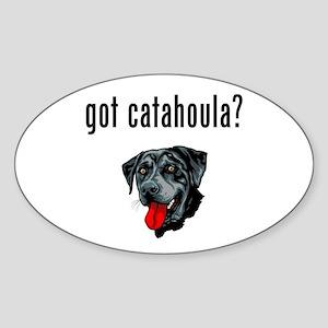 Catahoula Leopard Dog Oval Sticker