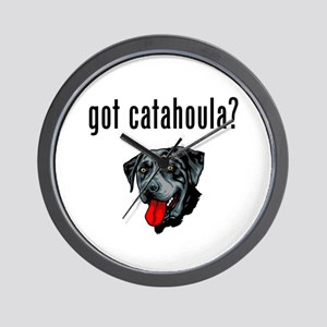 Catahoula Leopard Dog Wall Clock