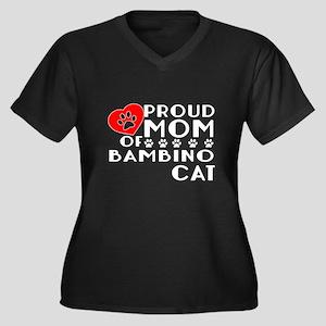 Proud Mom of Women's Plus Size V-Neck Dark T-Shirt