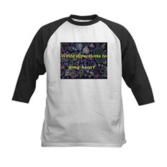 Directions to your Heart Kids Baseball Jersey