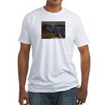 Tell a joke to a cat Fitted T-Shirt