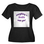 Everything is Do-able Women's Plus Size Scoop Neck