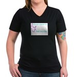 Crumple a Sacred Cow Women's V-Neck Dark T-Shirt