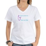 Crumple a Sacred Cow Women's V-Neck T-Shirt