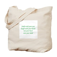 Smile with your eyes Tote Bag