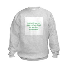 Smile with your eyes Sweatshirt