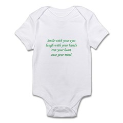 Smile with your eyes Infant Bodysuit