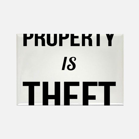 Property is Theft - Anarchist Socialist Co Magnets