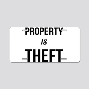 Property is Theft - Anarchi Aluminum License Plate