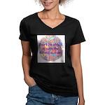 Kalaidoscope Women's V-Neck Dark T-Shirt