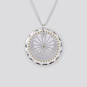Man In The Maze Medallion Go Necklace Circle Charm