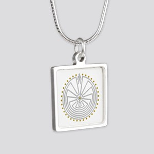 Man In The Maze Medallion Gold Silver Necklaces