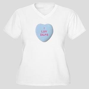 I Love DILFS Women's Plus Size V-Neck T-Shirt
