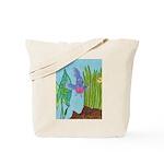 Fish Face (blue) Tote Bag