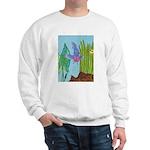Fish Face (blue) Sweatshirt