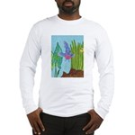 Fish Face (blue) Long Sleeve T-Shirt