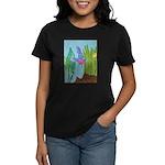 Fish Face (blue) Women's Dark T-Shirt