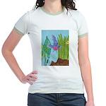 Fish Face (blue) Jr. Ringer T-Shirt