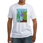 Fish Face (blue) Fitted T-Shirt