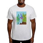 Fish Face (blue) Light T-Shirt