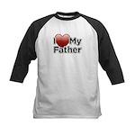 Love Father Kids Baseball Jersey