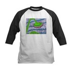 Bent Sunflower (grey) Kids Baseball Jersey
